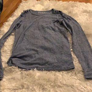 long sleeve shoulder detail shirt